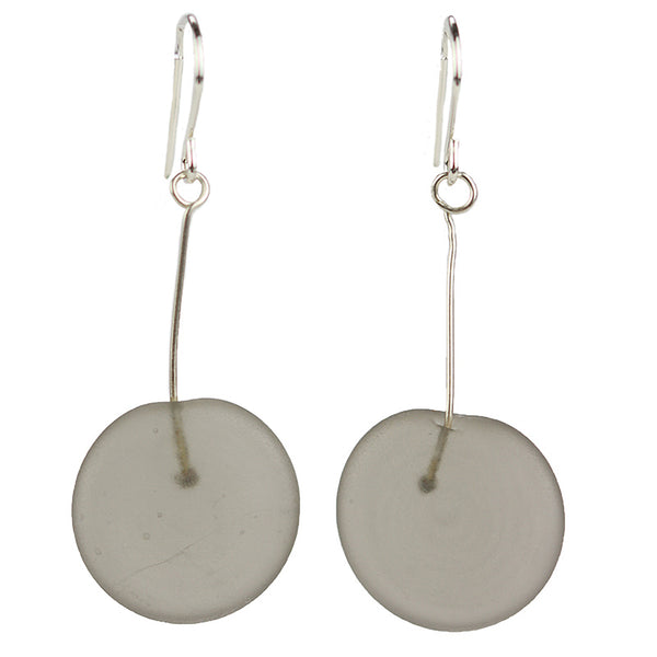 Tab earrings grey