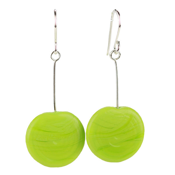 Tab earrings green