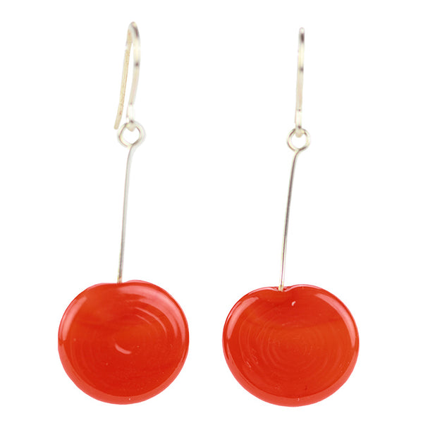 Tab earrings orange