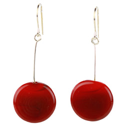 Tab earrings red