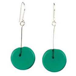 Tab earrings teal