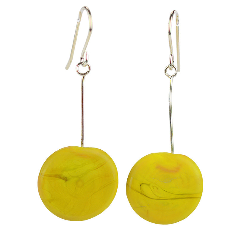 Tab earrings yellow
