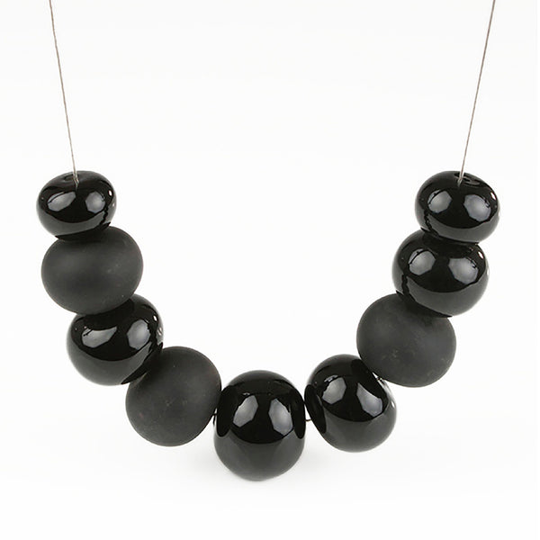 Bubble necklace - black