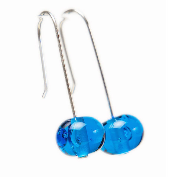Bubble bead earrings - turquoise blue