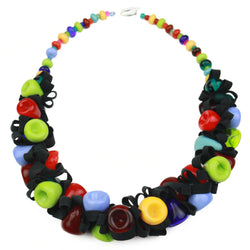 Demi ribbon necklace - multi-colored