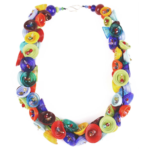 Pod necklace - Multi-colour