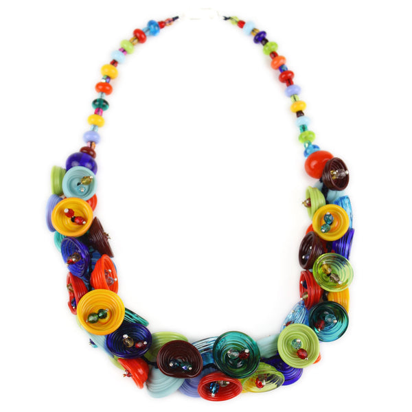 Demi pod necklace - multi-colored
