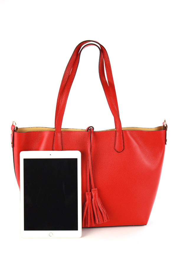 Belinda shopping bag in red