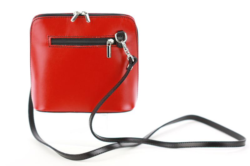 Dalida bag in red with black trim