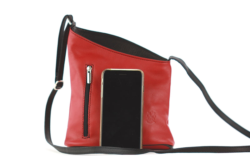 Miriam bag in red and black