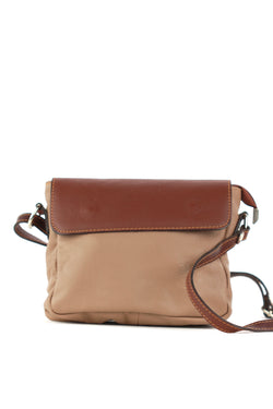 Penelope handbag in tan and brown