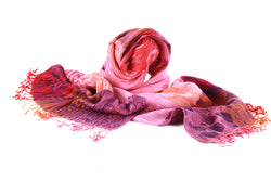 Viva scarf -purple, coral and pink