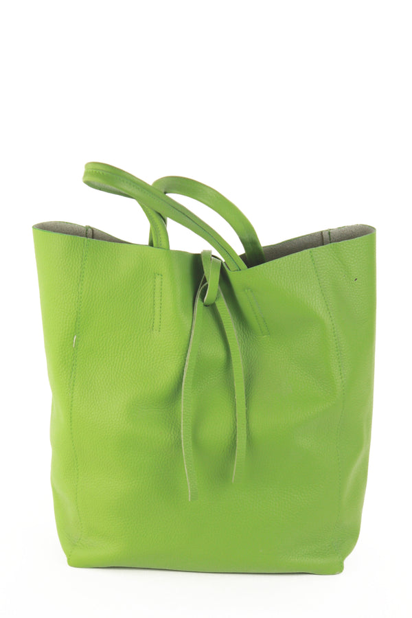 Babila shopping tote in bright green