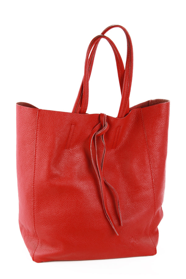 Babila shopping tote in red