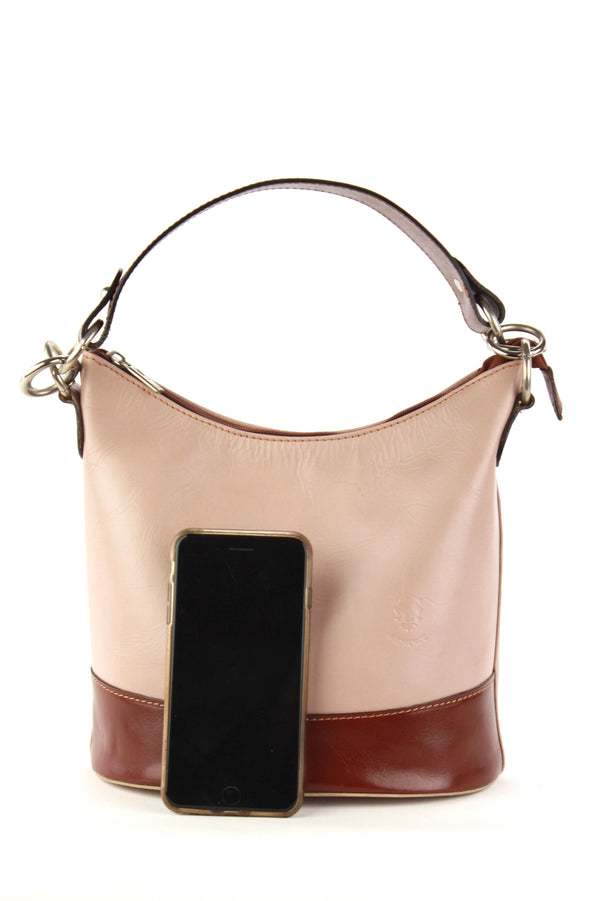 Simona bag in tan and brown