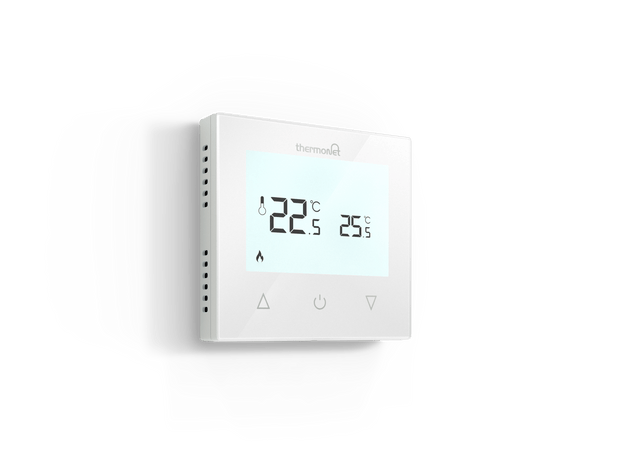 Thermotouch Glass 9.2mG Underfloor Heating Manual Thermostat