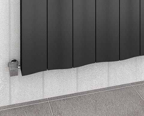 The Bloomsbury - Horizontal Aluminium Radiator - Anthracite