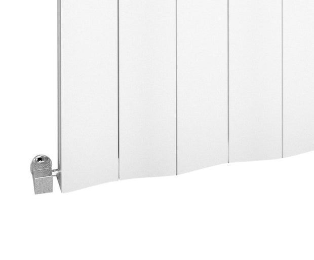 The Bloomsbury - Horizontal Aluminium Radiator - White