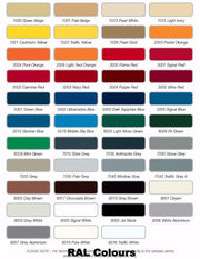 RAL Colours Chart