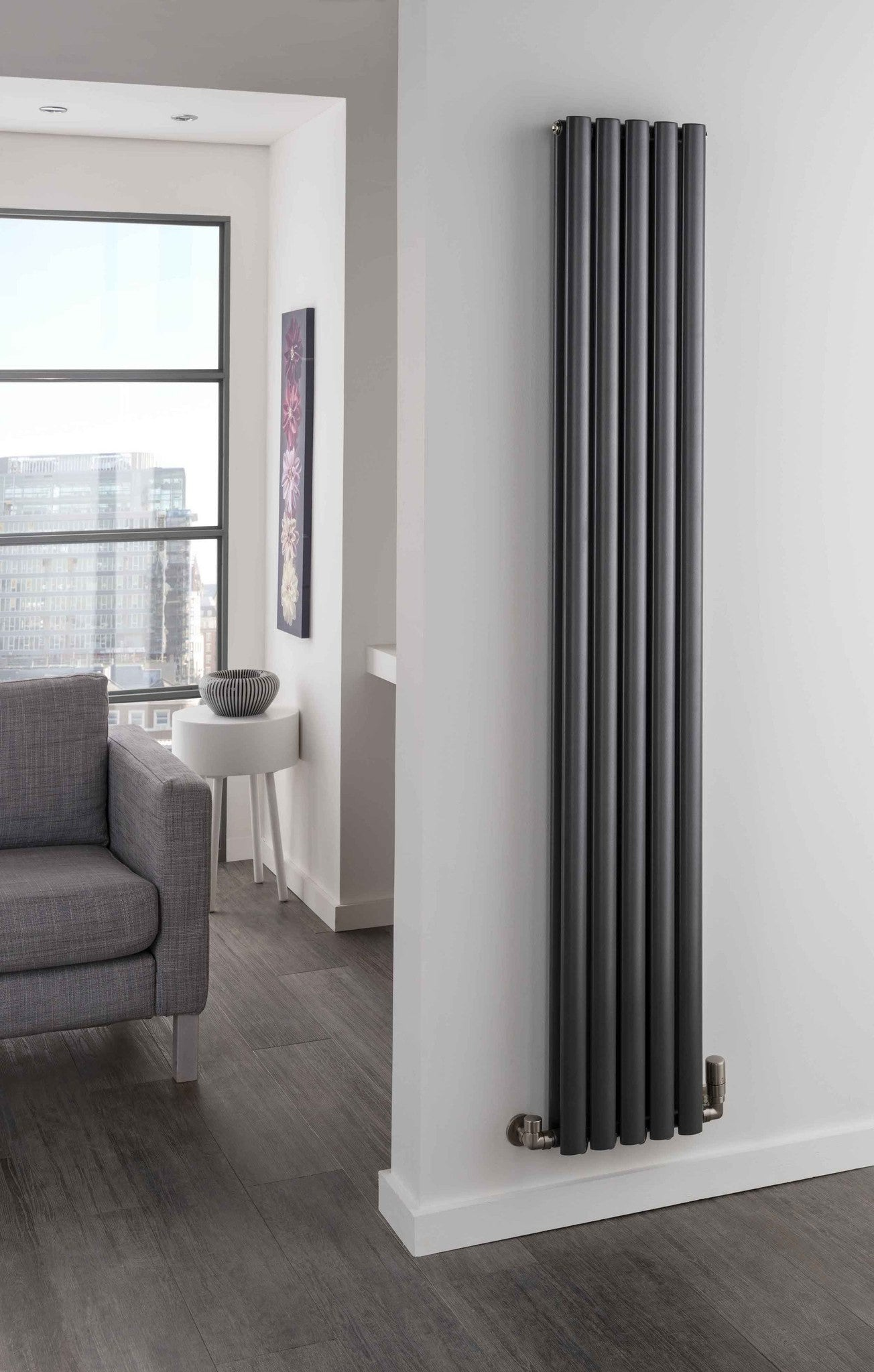 the radiator company ellipsis vertical radiator great. Black Bedroom Furniture Sets. Home Design Ideas