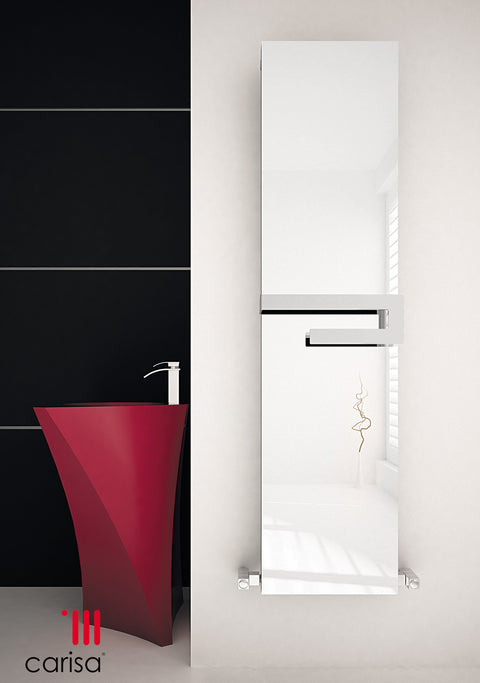 Carisa Elvino Bath Mirror Aluminium Towel Radiator