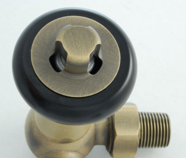 Faringdon Traditional Thermostatic Radiator Valve Old English Brass (Corner TRV)