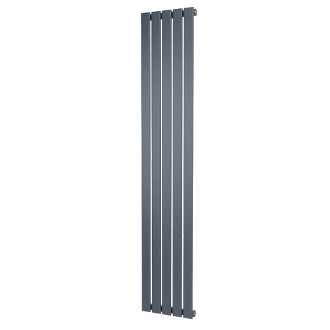 The Kensington - Single Flat Vertical Radiator - Anthracite