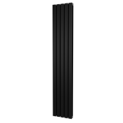 The Kensington - Double Flat Vertical Radiator - Black