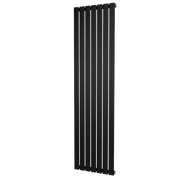 The Kensington - Single Flat Vertical Radiator - Black