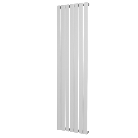The Kensington - Single Flat Vertical Radiator - White