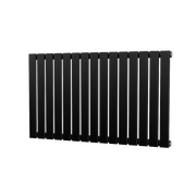 The Kensington - Single Flat Horizontal Radiator - Black
