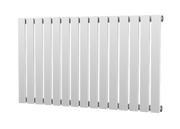 The Kensington - Single Flat Horizontal Radiator - White