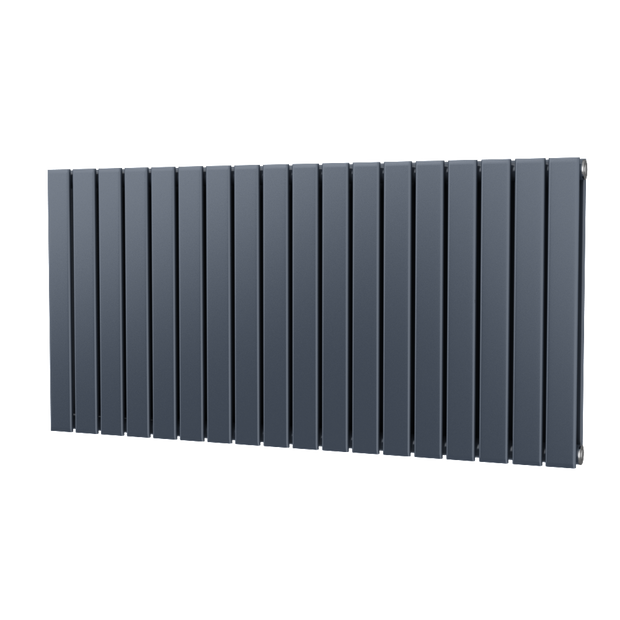The Kensington - Double Flat Horizontal Radiator - Anthracite