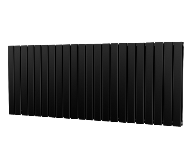 The Kensington - Double Flat Horizontal Radiator - Black