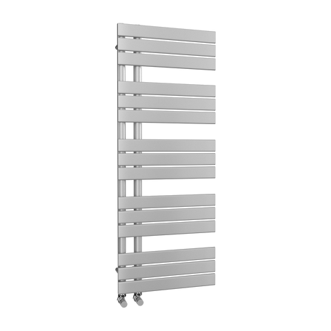 The Barnes - Designer Towel Rail - Silver