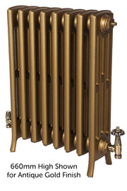 The Tudor 4 - 475mm High - 4 Column - Cast Iron Radiator