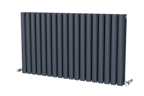 The Mayfair - Horizontal Double Designer Radiator - Anthracite