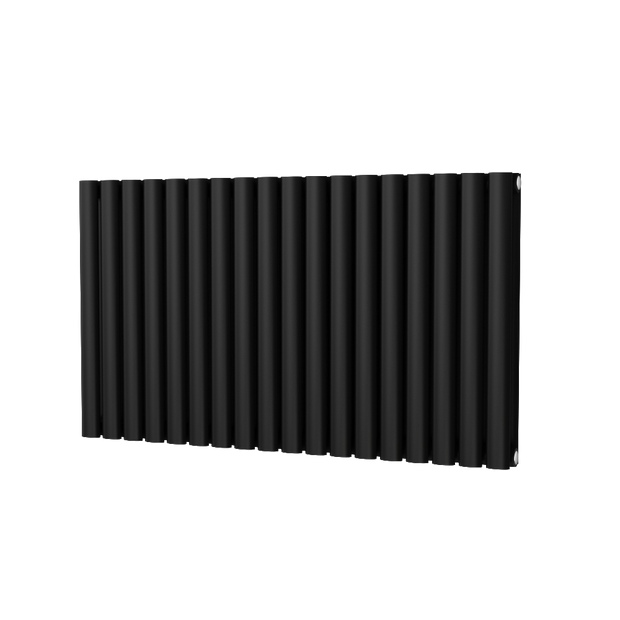 The Mayfair - Horizontal Double Designer Radiator - Black