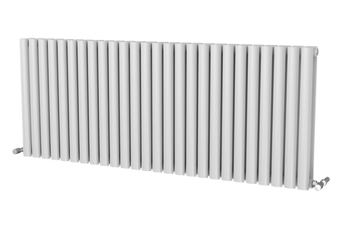 The Mayfair - Horizontal Double Designer Radiator - White