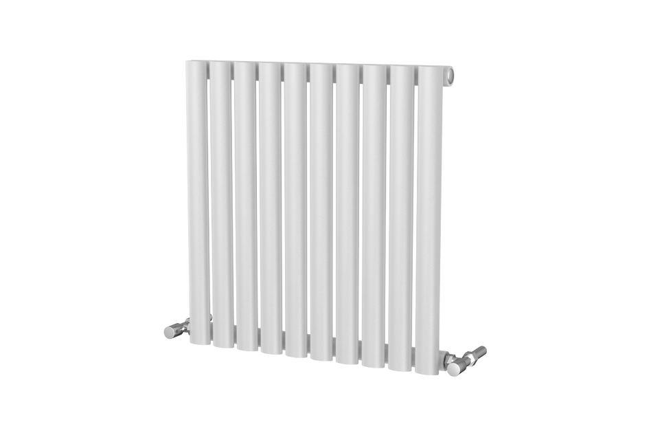 Brushed Chrome Bathroom Radiators: Horizontal Single Designer Radiator