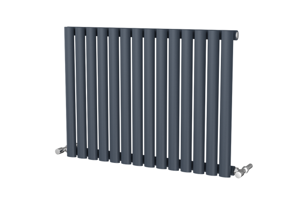 The Mayfair - Horizontal Single Designer Radiator - Anthracite