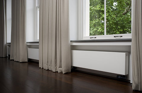 Eskimo Gong Outline Horizontal Radiator - White - Central Heating
