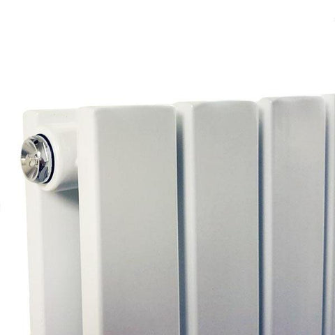 The Kensington - Double Flat Horizontal Radiator - White