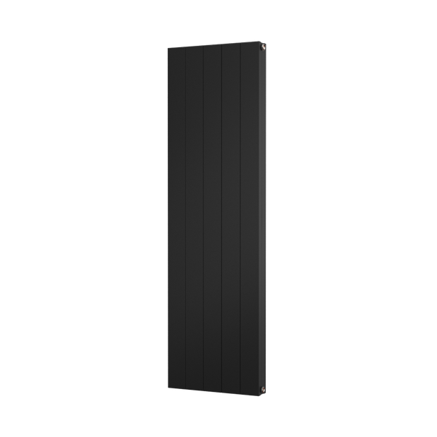 The Fulham -  Smooth Flat Vertical Aluminium Radiator - Black