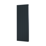 The Fulham -  Smooth Flat Vertical Aluminium Radiator - Anthracite