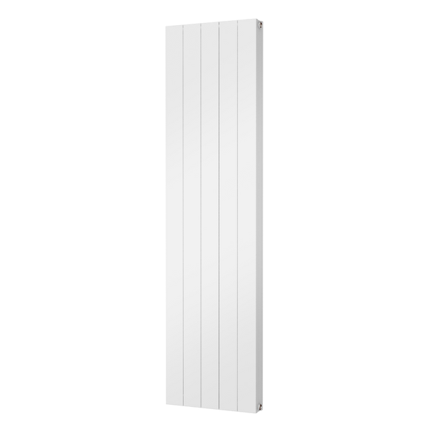 The Fulham -  Smooth Flat Vertical Aluminium Radiator - White