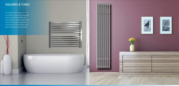 SBH MEGA Slim SQUARE Towel Radiator 1600 height - SS400SQ