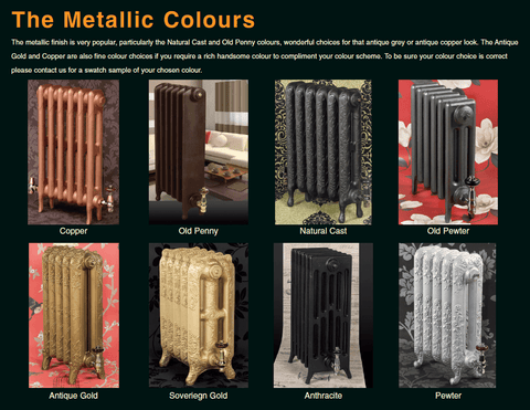 The Tudor 6 - 960mm - Cast Iron Radiator - 6 Column