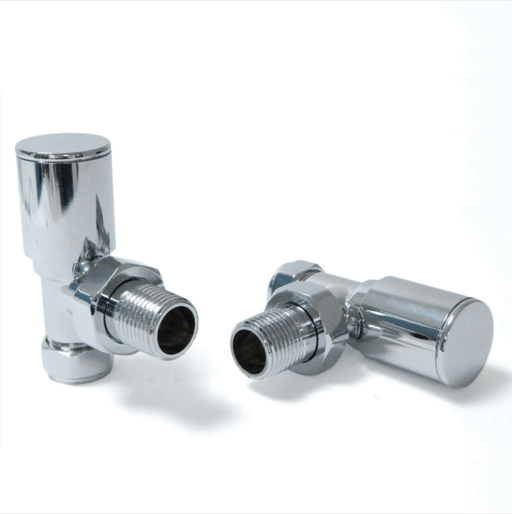 Milan Angled Chrome Radiator Valves (Pair)