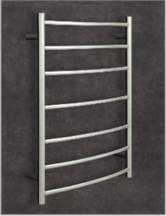 Thermorail Ladder - Rounded Curved Profile Electric Heated Towel Rail - CR44M